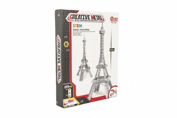 Stavebnice kovová Eiffelova věž 225 dílků v krabici 24x31x5cm
