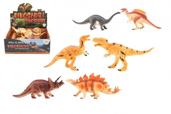 Dinosauři plast 16-18cm mix druhů 12ks v boxu