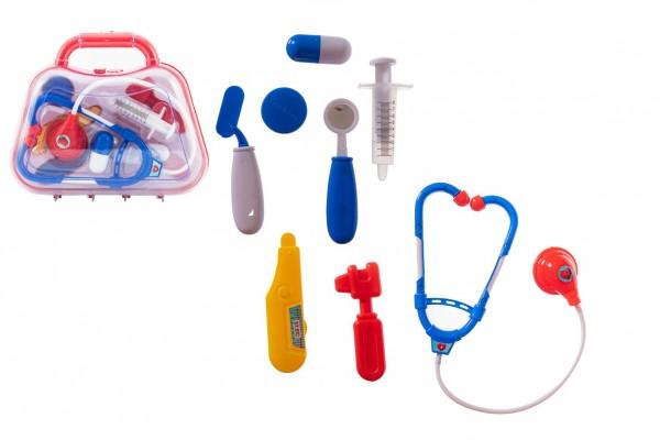 Sada doktor/lékař plast v plastovém kufříku 23x19x6cm v sáčku