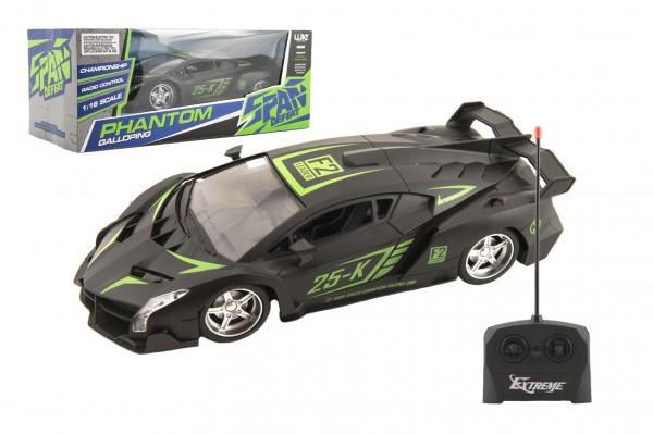 Auto sportovní RC plast 25cm 27MHz na dálkové ovládání na baterie v krabici 33x13x14,5cm
