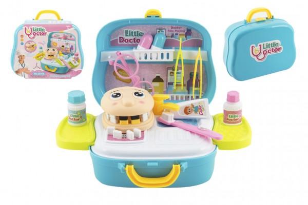 Sada doktor/lékař zubař plast 18ks v plastovém kufříku 23x20x10cm