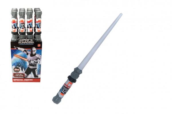 Vesmírný meč svítící plast 56cm na baterie se světlem se zvukem 12ks v boxu