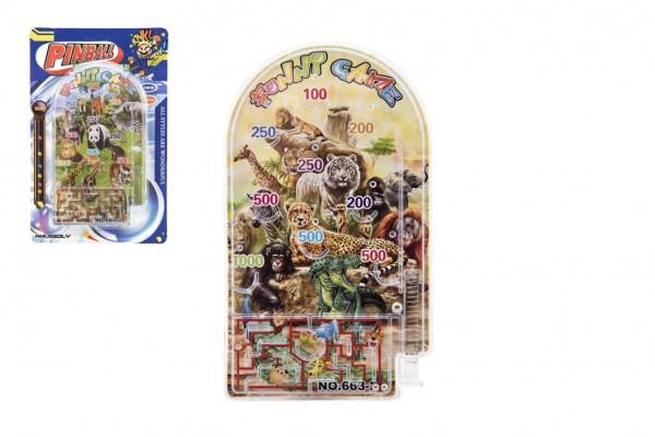 Pinball ZOO hlavolam plast 9x16cm 2 druhy na kartě