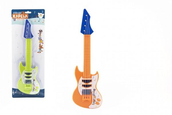 Kytara s trsátkem plast 42cm Zvířátka a jejich kapela 2 barvy na kartě