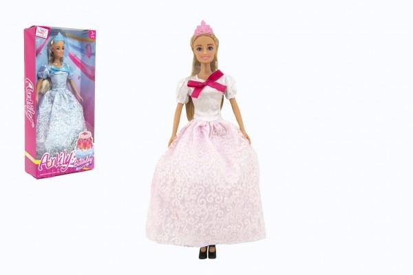 Panenka Anlily princezna kloubová 30cm plast 2 barvy v krabici 15x32x6cm