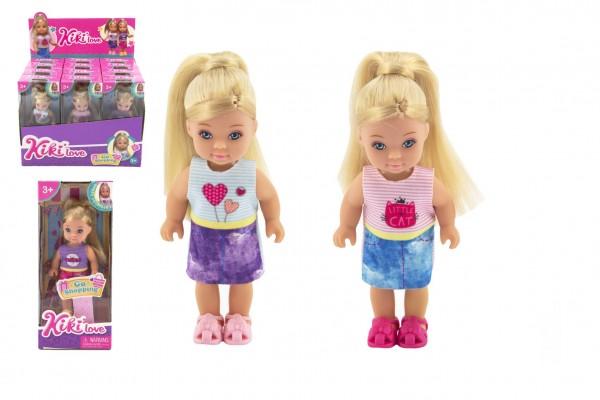 Panenka Kiki Anlily kloubová 12cm plast pevné tělo 3 druhy v krabičce 7x16x4cm 12 ks v boxu