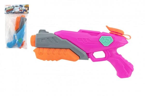 Vodní pistole plast 28cm 2 barvy v sáčku