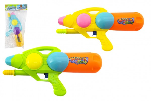 Vodní pistole plast 33cm 3 barvy v sáčku