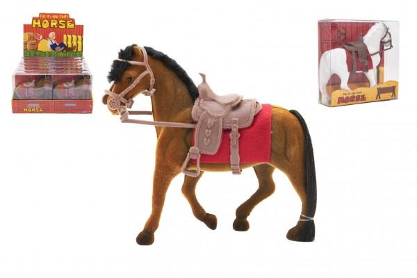 Kůň fliška se sedlem 18cm 3 barvy v krabičce 16x16,5x5,5cm 12ks v boxu