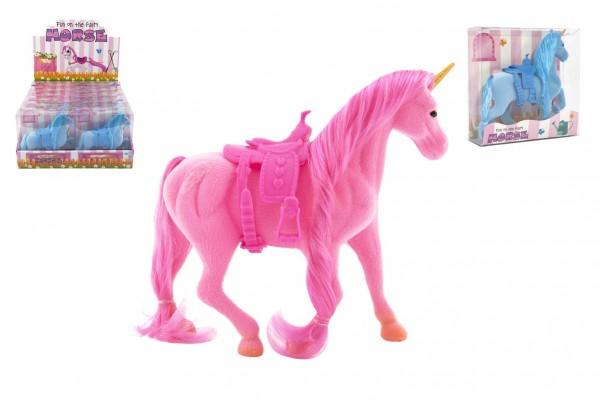 Jednorožec kůň fliška se sedlem 21cm 3 barvy v krabičce 16x17x5,5cm 12ks v boxu