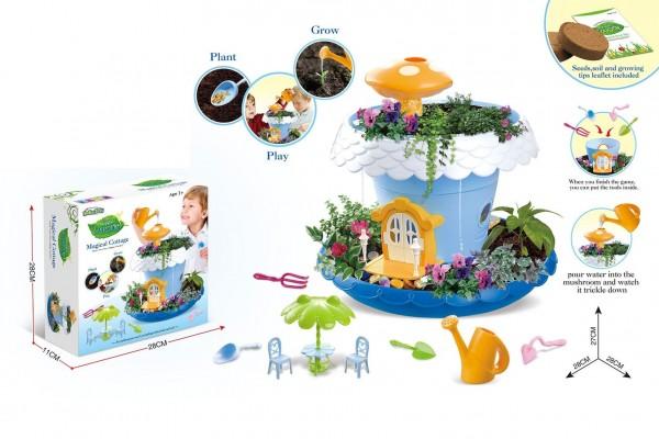 Kreativní sada Pěstování květin plast s doplňky v krabici 28x28x10cm