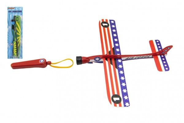 Letadlo vystřelovací pěnové 20cm 3 barvy na kartě