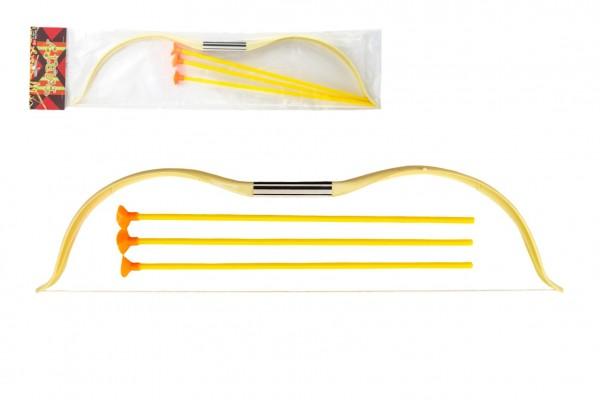 Luk 52cm + 3 šípy s přísavkou plast v sáčku