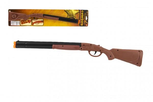 Pistole/Brokovnice kovbojská klapací plast 50cm na kartě