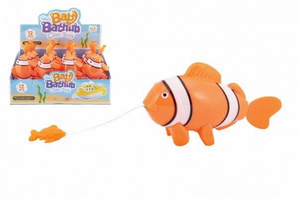 Zvířátko ryba na natažení do vody plast 5x9x18cm 12ks v boxu