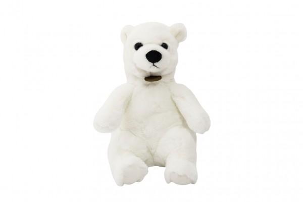 Medvěd sedící polární plyš 15x25x19cm 0+