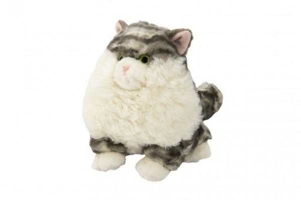 Kočka/Kočička sedící plyš 23cm18x20x19cm 0+