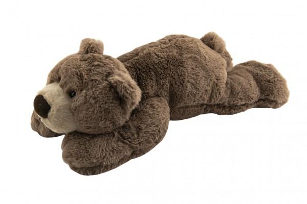 Medvěd hnědý ležící plyš 30x16x50cm 0+