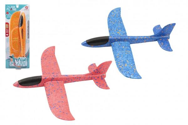 Letadlo házecí polystyrén 32cm 3 barvy na kartě