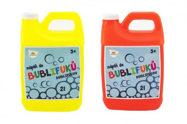 Náplň do bublifuku 2 litry 2 barvy v kanystru