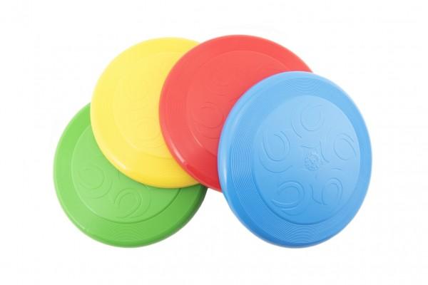 Létající talíř Frisbee plast 23cm 4 barvy 12m+