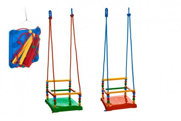 Houpačka plast 35x34cm nosnost 40kg 3 barvy v síťce