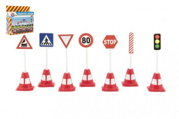 Dopravní značky plast 11,5cm v krabičce 16x16x4cm