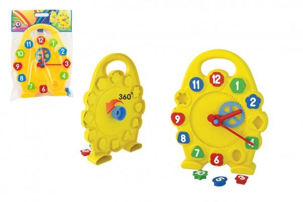 Hodiny výukové vkládačka plast v sáčku 28x41x5cm