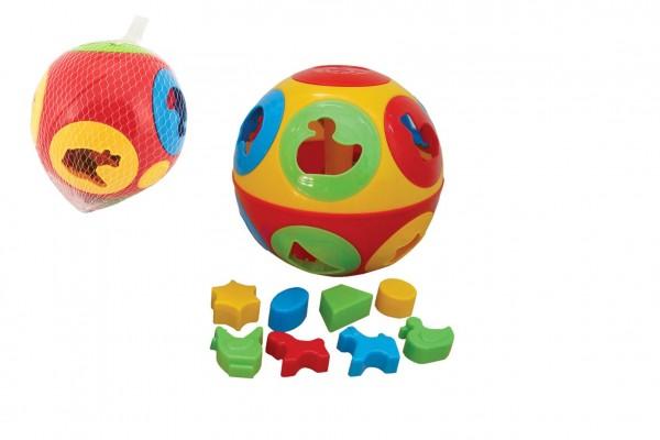 Vkládačka míč plast průměr 17cm v síťce 12m+