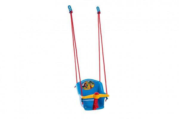 Houpačka Baby s pískátkem plast modrá nosnost 20kg  35x34x35cm