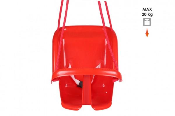 Houpačka Baby plast červená nosnost 20kg 35x38x39cm 24m+
