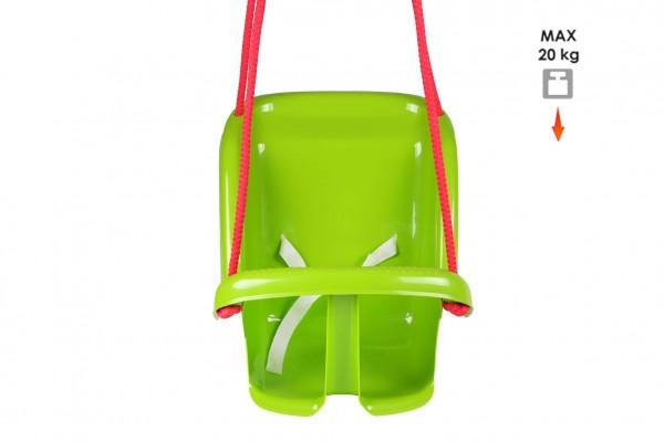 Houpačka Baby plast zelená nosnost 20kg 35x38x39cm 24m+