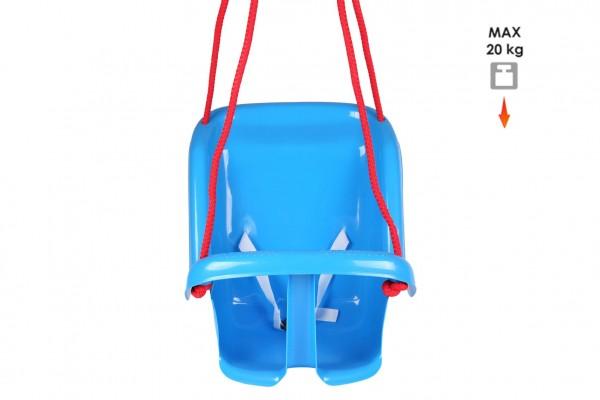 Houpačka Baby plast modrá nosnost 20kg 35x38x39cm 24m+