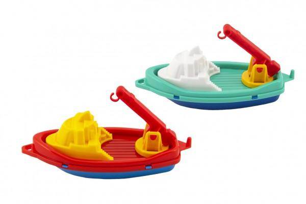 Loď/Člun do vody plast 14x7cm 2 barvy