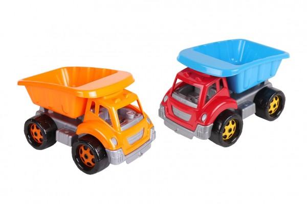 Auto stavební sklápěčka plast na volný chod 3 barvy 19x18x26cm 12m+