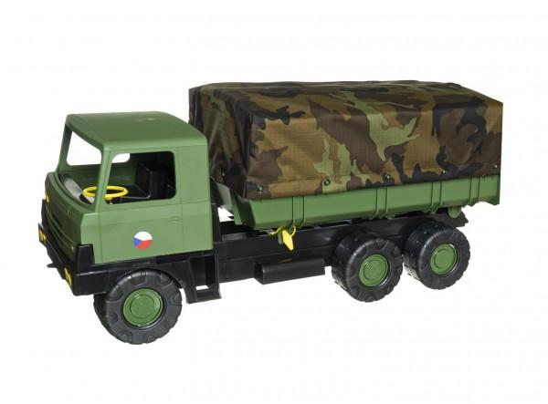 Auto Tatra 815 plast 75cm vojenská khaki valník s plachtou maskáčový v krabici 75x34x27,5cm