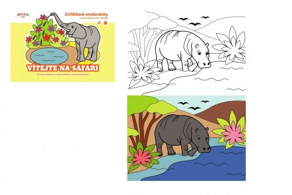 Omalovánky zvířátkové Vítejte na safari 21x15cm