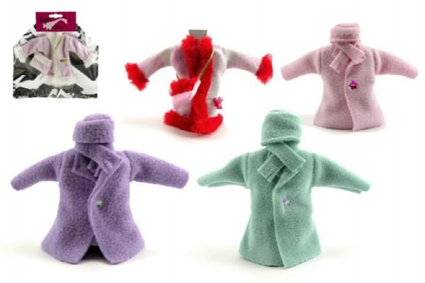 Šaty/Oblečky kabátek na panenky asst v sáčku 21x30cm
