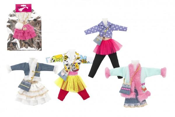 Šaty/Oblečky krátké na panenky mix druhů v sáčku 22x30cm