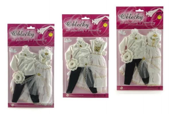 Šaty/Oblečky na panenky/panáček asst na kartě 21x38cm