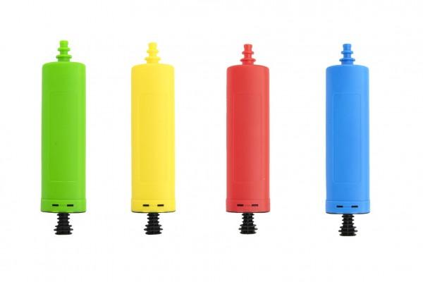 Pumpa na balónky plast 28x6cm 4 barvy karneval