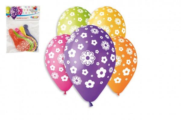 Balonek/Balonky nafukovací květiny 12'' průměr 30cm 5ks v sáčku