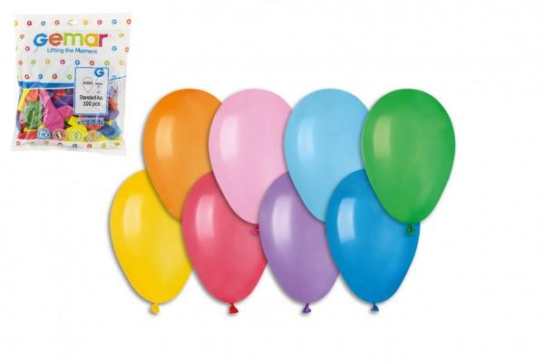 """Balonek/Balonky nafukovací 7"""" průměr 19cm 100ks v sáčku karneval"""