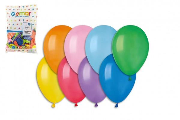 """Balonek/Balonky nafukovací 8"""" pastelové 100ks v sáčku karneval"""