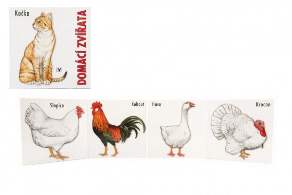 Knížka Leporelo - Domácí zvířata 15,5x15cm 24m+