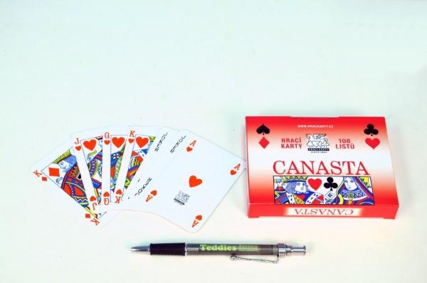 Canasta společenská hra karty v papírové krabičce 12x9cm