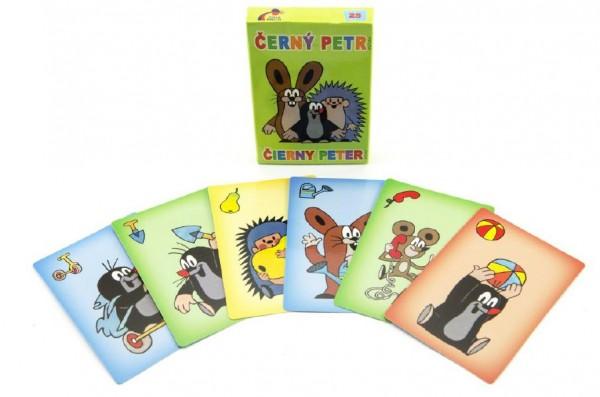 Černý Petr Krtek společenská hra - karty v papírové krabičce 6x9cm