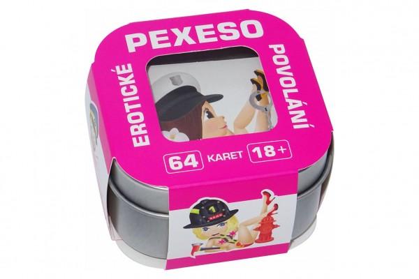 Erotické pexeso povolání (od 18 let) v plechové krabičce 6,5x6,5x4cm