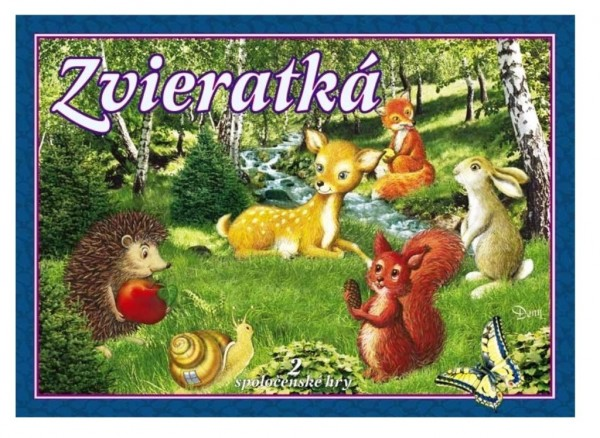 Zvieratká verze SK 2 společenské hry v krabici 34x25x4cm