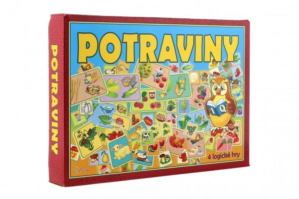 Potraviny 4 logické hry společenská hra v krabici 29x20x4cm